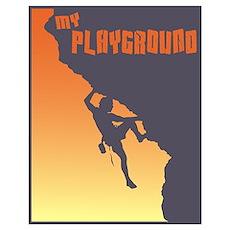 My Playground Rock Climbing Poster