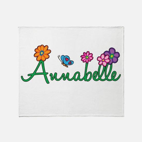 Annabelle Flowers Throw Blanket