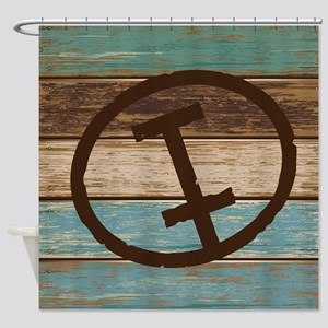 I Monogram Branding Iron Shower Curtain