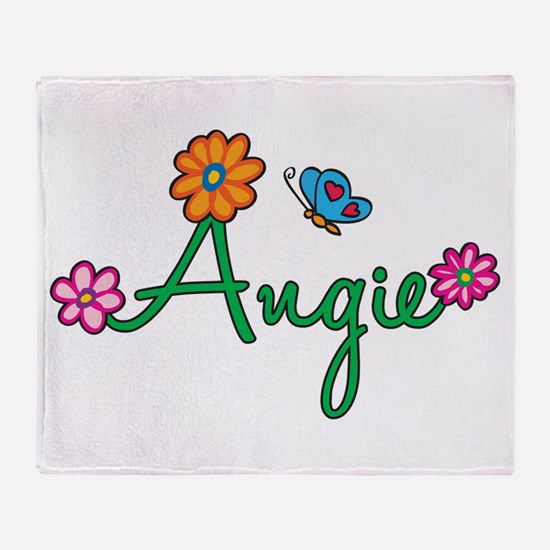 Angie Flowers Throw Blanket