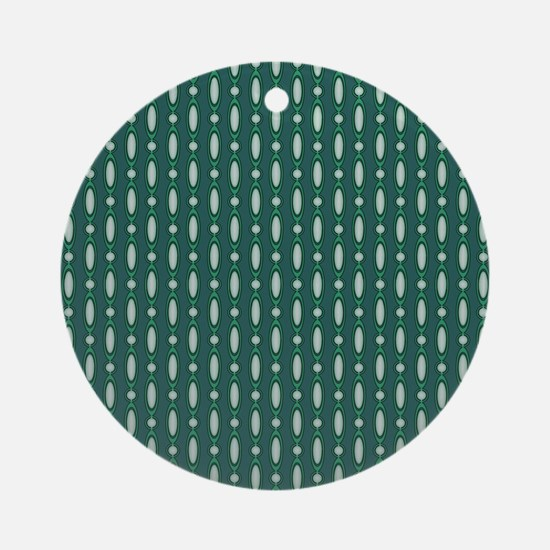 Green 70s Beaded Curtain Ornament (Round)