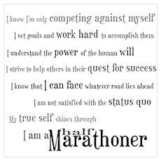I'm a Half Marathoner Poster