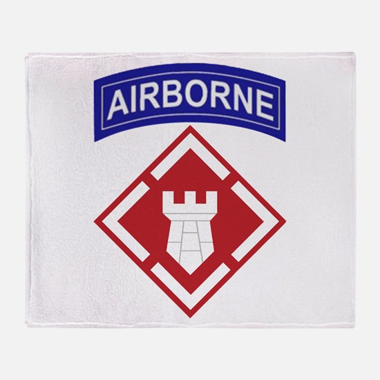 Cute Army engineer Throw Blanket