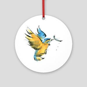 kingfisher Ornament (Round)