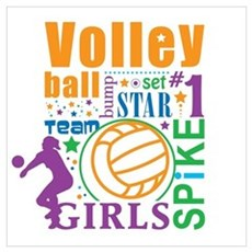 Bourne Volleyball Poster