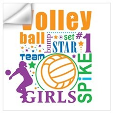 Bourne Volleyball Wall Decal