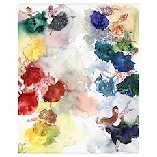 Watercolor Tutu's Poster