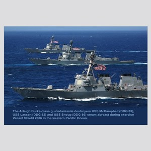 3 Destroyers Abreast