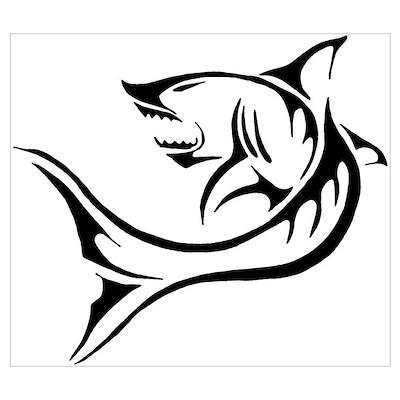 Shark Tattoo Poster