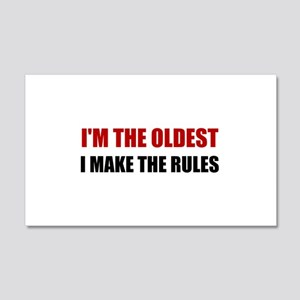 Oldest Make The Rules Wall Decal