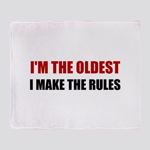 Oldest Make The Rules Throw Blanket