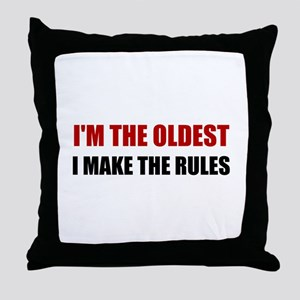 Oldest Make The Rules Throw Pillow
