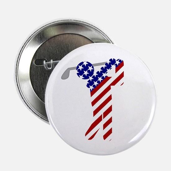 "USA Mens Golf 2.25"" Button"