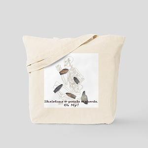 Skeletons, Points, & Sherds Tote Bag