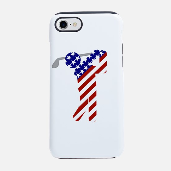 USA Mens Golf iPhone 7 Tough Case