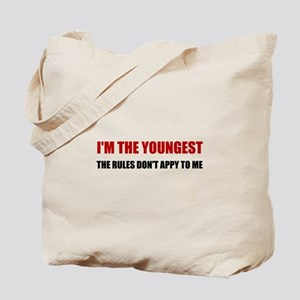 Youngest Rules Don't Apply Tote Bag
