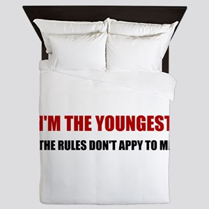 Youngest Rules Don't Apply Queen Duvet