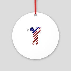 USA Mens Golf Round Ornament
