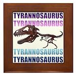 Tyrannosaurus Framed Tile