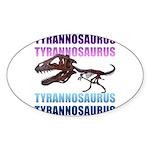 Tyrannosaurus Sticker (Oval)