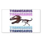 Tyrannosaurus Sticker (Rectangle 10 pk)