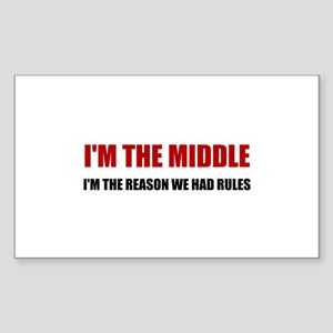 Middle Reason For Rules Sticker