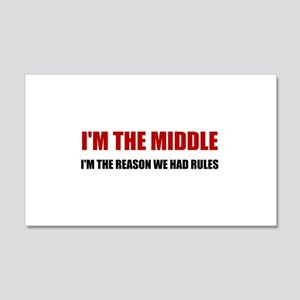 Middle Reason For Rules Wall Decal