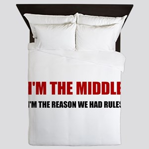 Middle Reason For Rules Queen Duvet