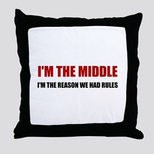Middle Reason For Rules Throw Pillow