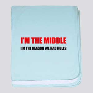 Middle Reason For Rules baby blanket