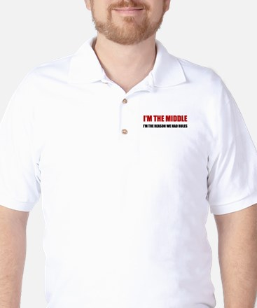 Middle Reason For Rules Golf Shirt