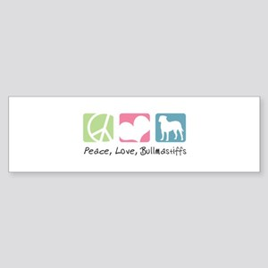 Peace, Love, Bullmastiffs Sticker (Bumper)