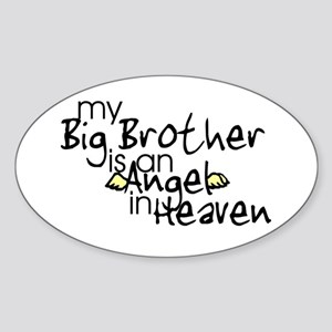 My Big Brother is an Angel in Oval Sticker