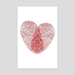 fingerprint heart Mini Poster Print