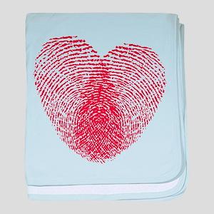 fingerprint heart baby blanket