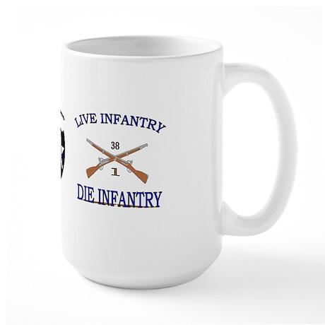 1st Bn 38th Infantry Large Mug