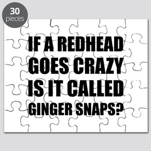 Redhead Called Ginger Snap Puzzle