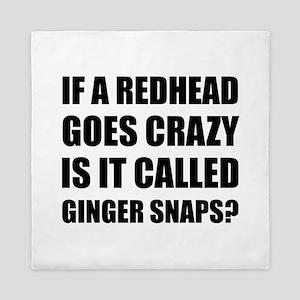 Redhead Called Ginger Snap Queen Duvet