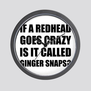 Redhead Called Ginger Snap Wall Clock