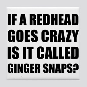 Redhead Called Ginger Snap Tile Coaster