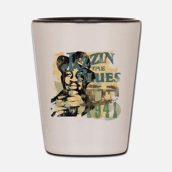 Jazzin The Blues Shot Glass