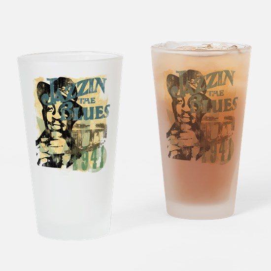 Jazzin The Blues Drinking Glass