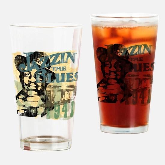 Jazzin The Blues Drinking Glass