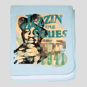 Jazzin The Blues baby blanket