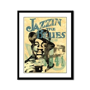 Jazzin The Blues Framed Panel Print