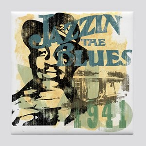 Jazzin The Blues Tile Coaster