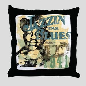 Jazzin The Blues Throw Pillow