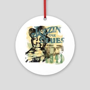 Jazzin The Blues Ornament (Round)