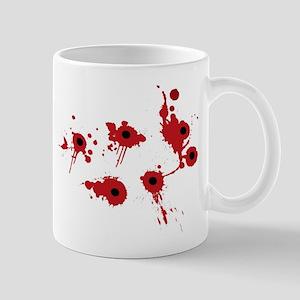 bleeding bullet holes Mugs