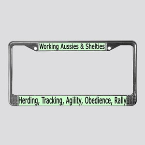 Working Aussies & Shelties License Plate Frame v4
